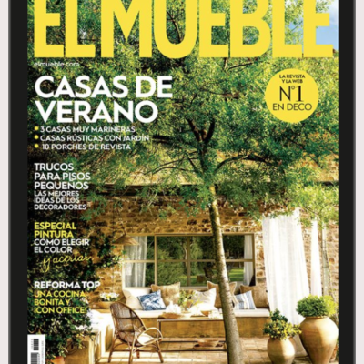 El Paller house is the cover of the EL MUEBLE magazine